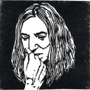 muziekgeheugen in linoprint